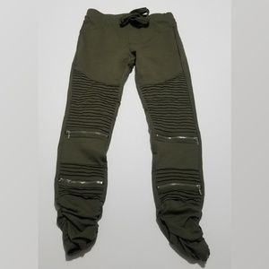 moto jeggings in olive army green Shinestar